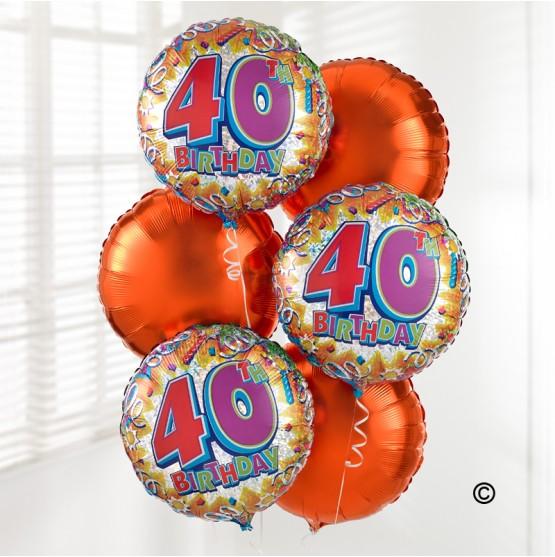 40th Birthday Balloon Bouquet
