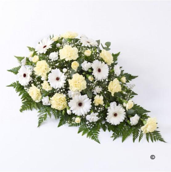 Carnation & Germini Spray Yellow & White