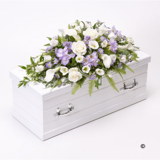 Children's Casket Spray - Blue and Lilac