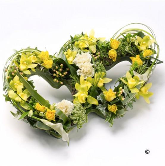 Double Heart Tribute - Yellow