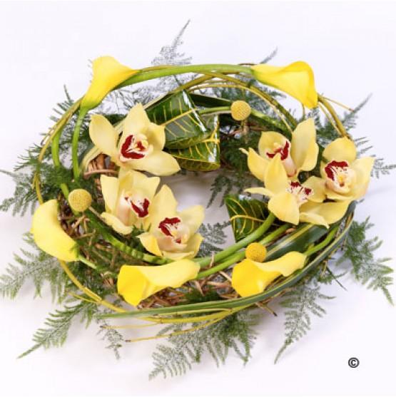 Woodland Wreath Yellow
