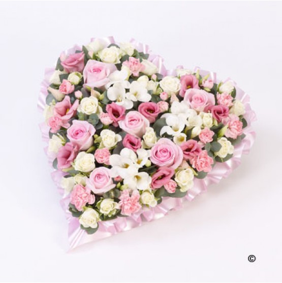 Pastel Heart - Pink and White