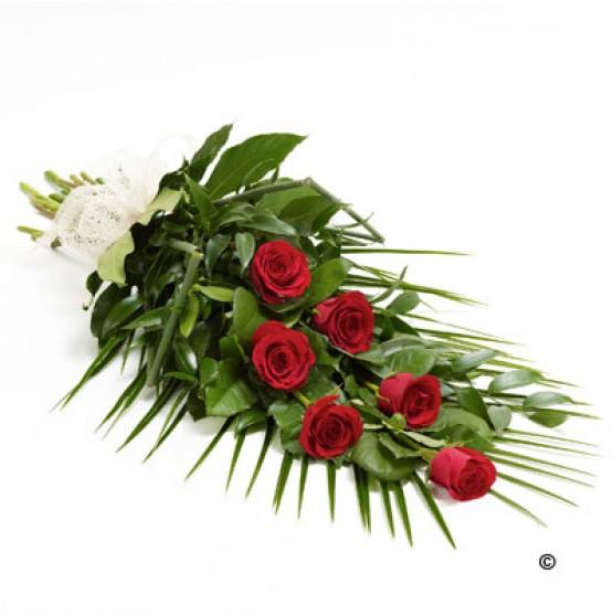 Simple Rose Sheaf - Red