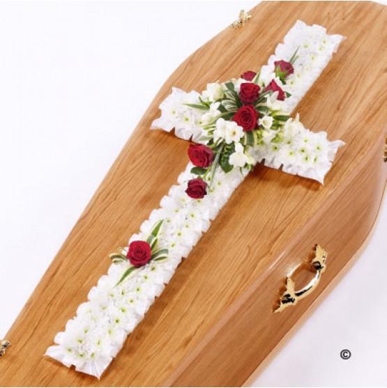 Red & White Classic Cross