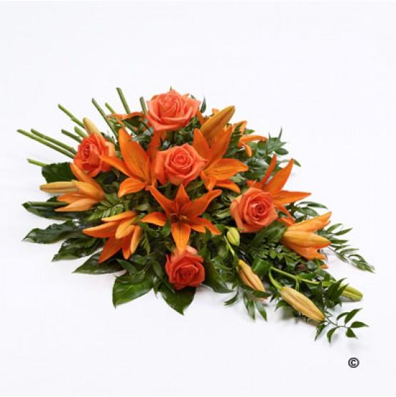 Rose and Lily Spray - Orange