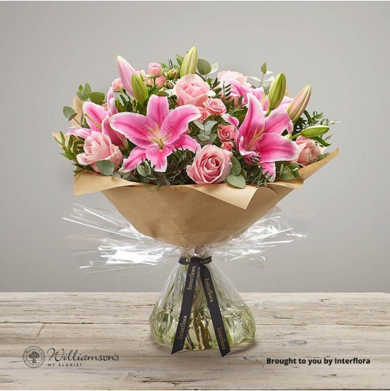 Pink Pop Floral Hand Tied