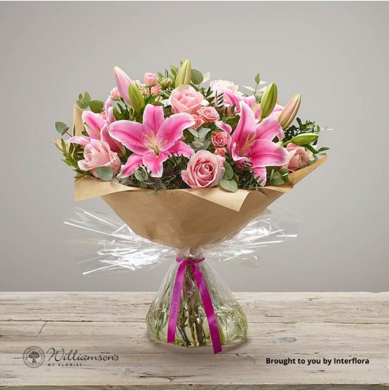 Happy Birthday Pink Pop Floral Hand Tied