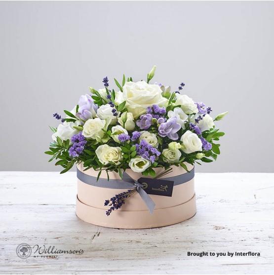 Lovely Lilacs Hat Box