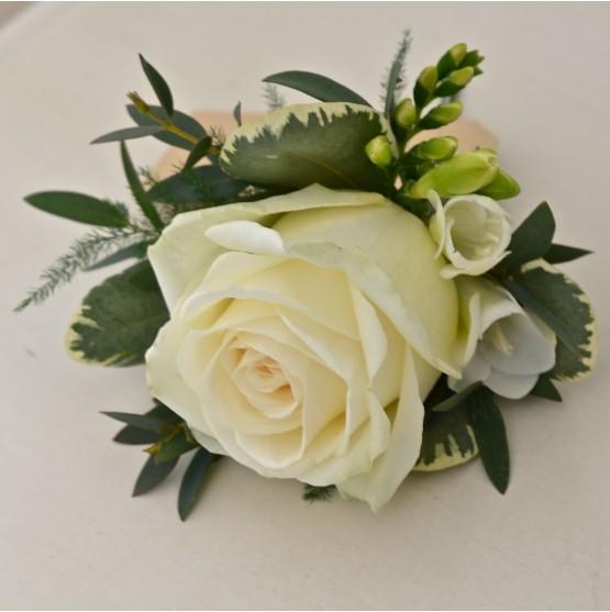 Ladies Single Rose, And Seasonal Flower Corsage
