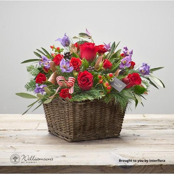 Cosy Crimson Basket