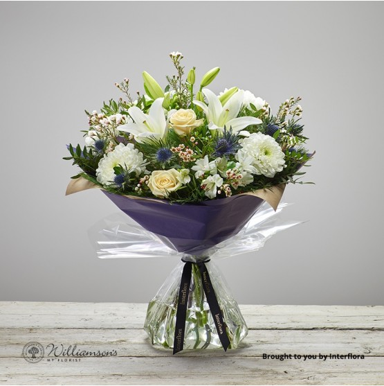 Twinkling Whites Hand Tied Large