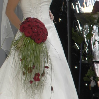 Grand prix rose hand tied bridal bouquet