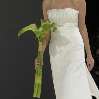 Green goddess calla bridal bouquet