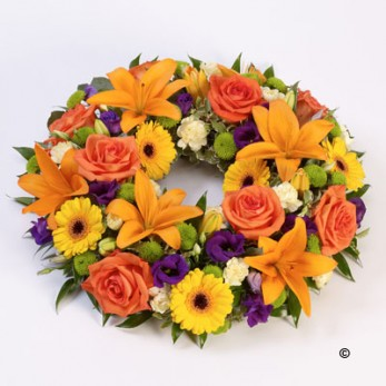 Vibrant Rose and Lily Wreath