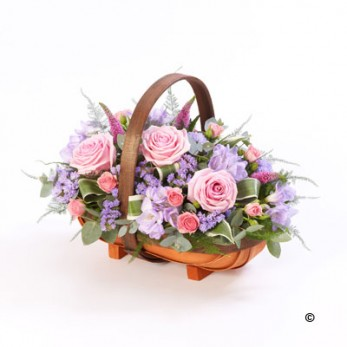 Pink and Lilac Basket