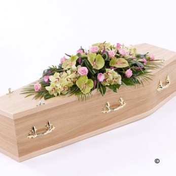 Rose and Calla Lily Casket Spray