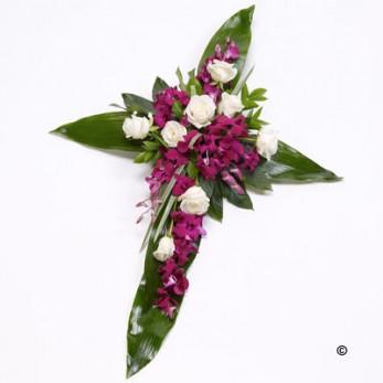 3ft Rose & Aspidistra Cross