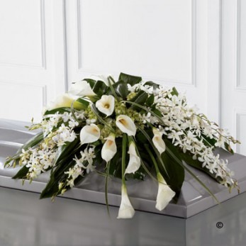 Callay Lily and Orchid Casket Spray
