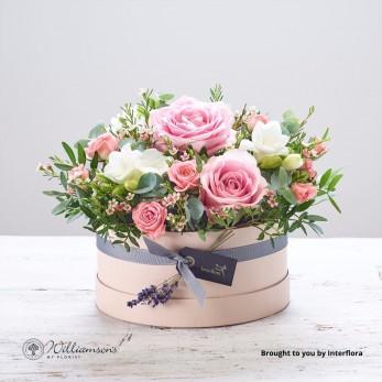Rose Blush Baby Hat Box