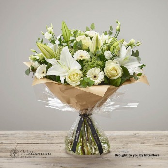 White Radiance Hand Tied Large