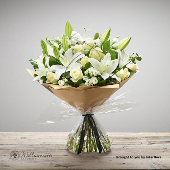 Wonderfully White Hand Tied Large