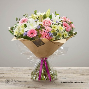 Happy Birthday Treasured Time Floral Hand Tied