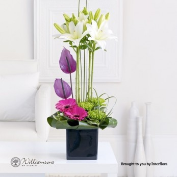 Lily And Anthurium Arrangement.