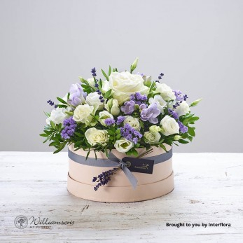 Lovely Lilacs Hat Box