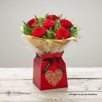 Six red roses for delivery