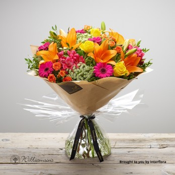 Flaming Fiesta Hand Tied