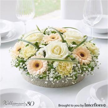 Pastel Rose & Germini Centrepiece