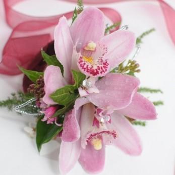 Ladies Double Cymbidium Orchid Corsage