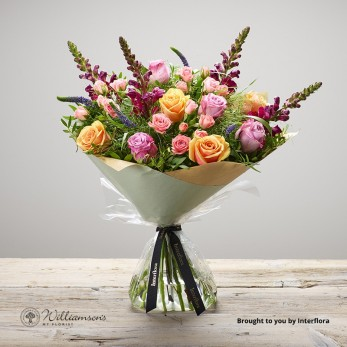 Mother's Day Apricot Hand Tied