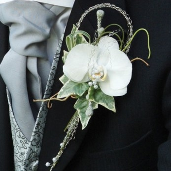 Gents Phalanopsis creation buttonhole