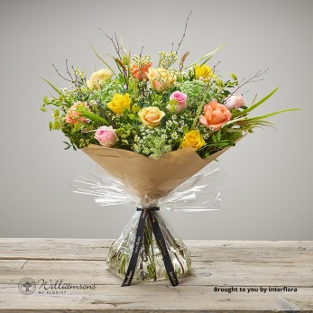 Zesty Rose Hand Tied