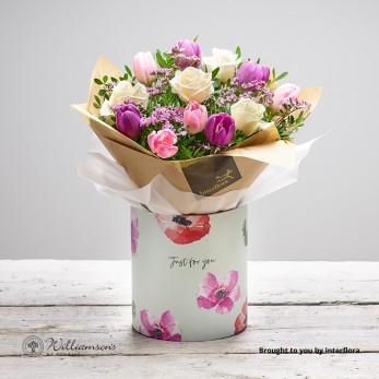 Pretty Rose & Tulip Gift Box