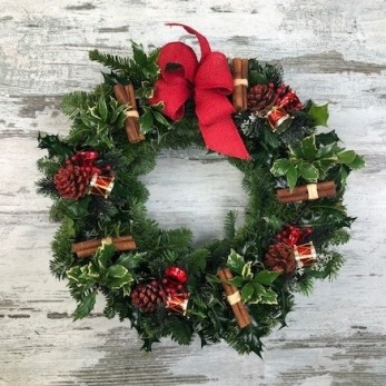 Decorated Holly Wreath