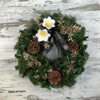 Christmas Rose Wreath 30cm Frame