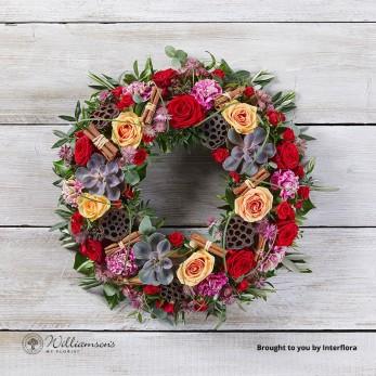 Christmas Sunrise Wreath