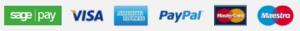 We Accept : Visa, Amex, PayPal, MasterCard & Maestro